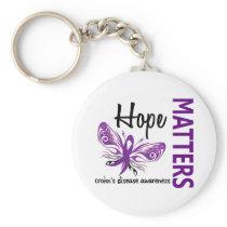 Hope Matters Butterfly Crohn's Disease Keychain