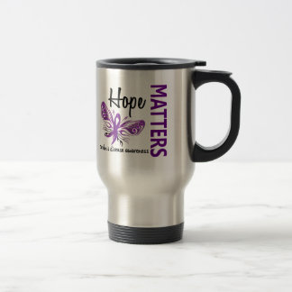 Hope Matters Butterfly Crohn's Disease 15 Oz Stainless Steel Travel Mug