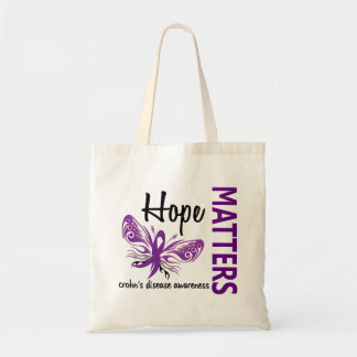 Hope Matters Butterfly Crohn's Disease Tote Bag