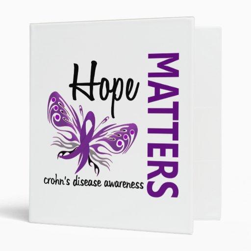 Hope Matters Butterfly Crohn's Disease Vinyl Binders