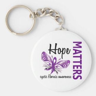 Hope Matters Butterfly Cystic Fibrosis Basic Round Button Keychain