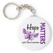 Hope Matters Butterfly Cystic Fibrosis Keychain