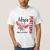 Hope Matters Butterfly Diabetes T-Shirt