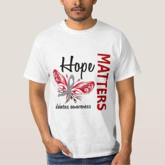 Hope Matters Butterfly Diabetes Tee Shirt