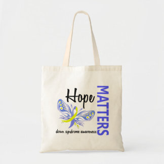 Hope Matters Butterfly Down Syndrome Budget Tote Bag