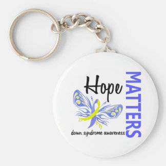 Hope Matters Butterfly Down Syndrome Keychain