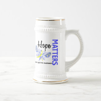 Hope Matters Butterfly Down Syndrome 18 Oz Beer Stein