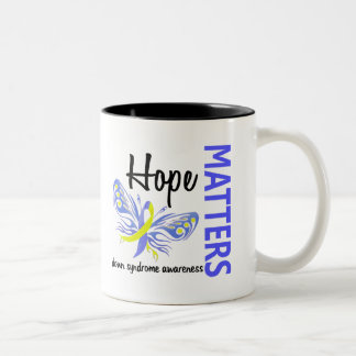 Hope Matters Butterfly Down Syndrome Two-Tone Coffee Mug