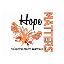 Hope Matters Butterfly Endometrial Cancer Postcard