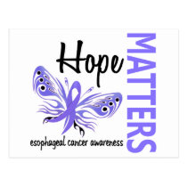Hope Matters Butterfly Esophageal Cancer Postcard