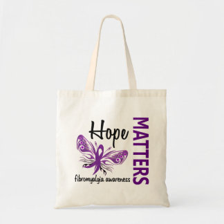 Hope Matters Butterfly Fibromyalgia Canvas Bags