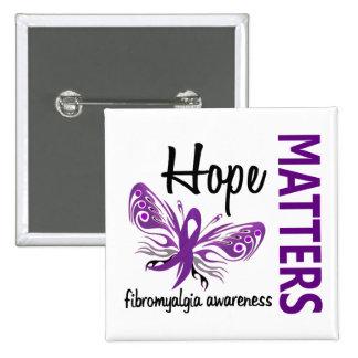 Hope Matters Butterfly Fibromyalgia Pinback Button