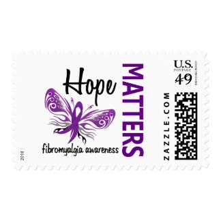 Hope Matters Butterfly Fibromyalgia Postage Stamps