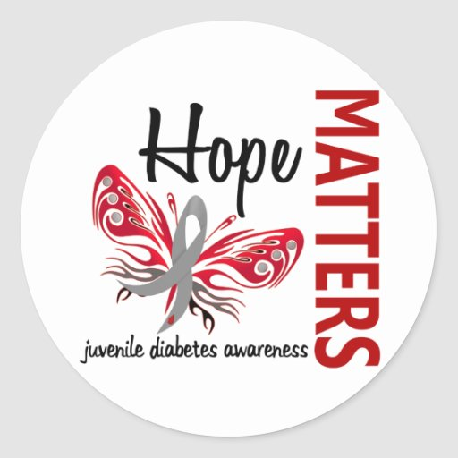 Hope matters butterfly juvenile diabetes classic round for Stickers juveniles