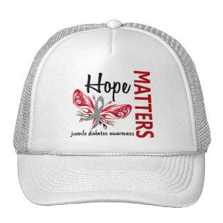 Hope Matters Butterfly Juvenile Diabetes Mesh Hat