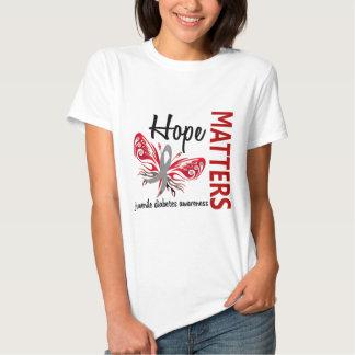 Hope Matters Butterfly Juvenile Diabetes T Shirt