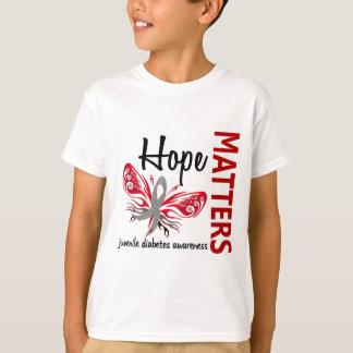 Hope Matters Butterfly Juvenile Diabetes T-Shirt