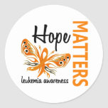Hope Matters Butterfly Leukemia Round Stickers