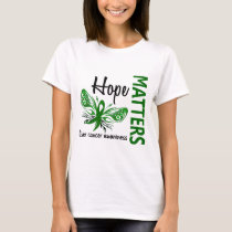 Hope Matters Butterfly Liver Cancer T-Shirt