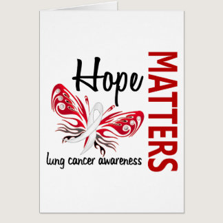 Hope Matters Butterfly Lung Cancer Card