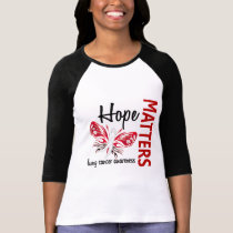 Hope Matters Butterfly Lung Cancer T-Shirt