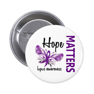 Hope Matters Butterfly Lupus Pinback Buttons