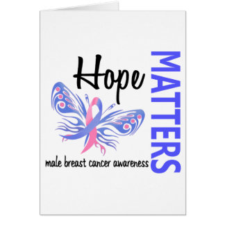 Hope Matters Butterfly Male Breast Cancer Greeting Card