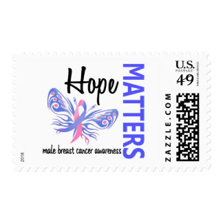 Hope Matters Butterfly Male Breast Cancer Stamps