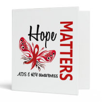 Hope Matters Butterfly Mesothelioma 3 Ring Binder