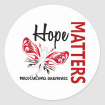 Hope Matters Butterfly Mesothelioma Round Sticker