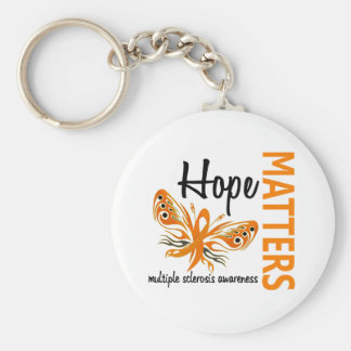 Hope Matters Butterfly Multiple Sclerosis Basic Round Button Keychain