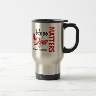 Hope Matters Butterfly Oral Cancer 15 Oz Stainless Steel Travel Mug