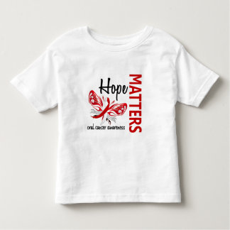 Hope Matters Butterfly Oral Cancer T Shirts