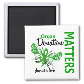 Hope Matters Butterfly Organ Donation 2 Inch Square Magnet