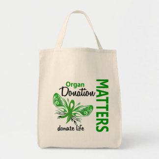 Hope Matters Butterfly Organ Donation Canvas Bags
