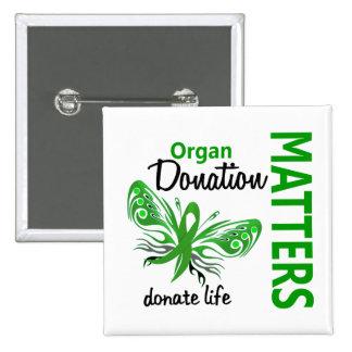 Hope Matters Butterfly Organ Donation Buttons