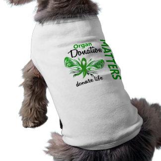 Hope Matters Butterfly Organ Donation Dog T Shirt