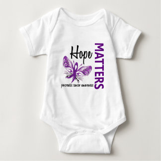 Hope Matters Butterfly Pancreatic Cancer Baby Bodysuit