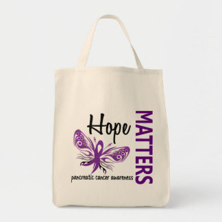 Hope Matters Butterfly Pancreatic Cancer Tote Bag