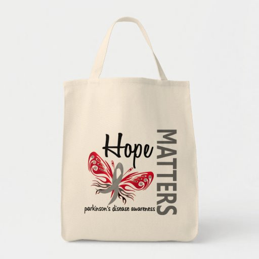 Hope Matters Butterfly Parkinson's Disease Grocery Tote Bag