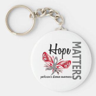 Hope Matters Butterfly Parkinson's Disease Basic Round Button Keychain