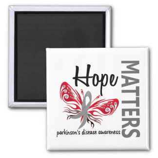 Hope Matters Butterfly Parkinson's Disease 2 Inch Square Magnet