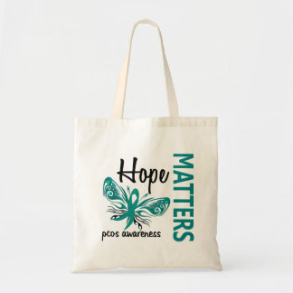 Hope Matters Butterfly PCOS Tote Bags