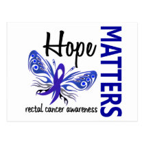 Hope Matters Butterfly Rectal Cancer Postcard