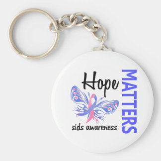 Hope Matters Butterfly SIDS Basic Round Button Keychain