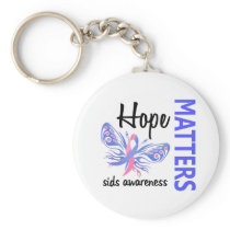 Hope Matters Butterfly SIDS Keychain