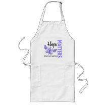 Hope Matters Butterfly Stomach Cancer Long Apron