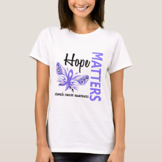 Hope Matters Butterfly Stomach Cancer T-Shirt