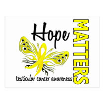 Hope Matters Butterfly Testicular Cancer Postcard
