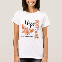 Hope Matters Butterfly Uterine Cancer T-Shirt